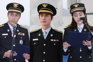 Sau Han Ji Min - Jung Woo Sung, Park Hae Jin được Tổng thống bổ nhiệm làm lính cứu hỏa danh dự