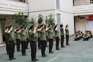 Cục Truyền thông CAND tập huấn điều lệnh, quân sự võ thuật