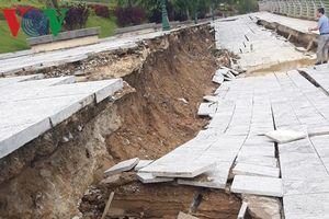 Đê kè sông Mã có vốn đầu tư 104 tỷ đồng sạt lở nghiêm trọng