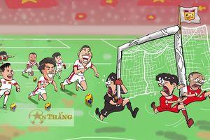 Biếm họa 24h: Lào 'tá hỏa' trước Việt Nam, Mourinho 'chọc quê' Ronaldo