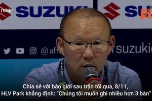 HLV Park Hang-seo: '3 bàn thắng là chưa đủ'