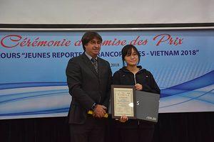Trao giải Cuộc thi 'Phóng viên trẻ Pháp ngữ - Việt Nam 2018'