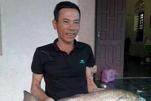 Thợ câu Nghệ An bắt được cá nghi sủ vàng nặng 5 kg