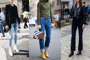 Loạt cách mix ankle boots với quần skinny jeans cực hay ho và trendy tín đồ thời trang không thể làm ngơ