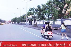 Hà Tĩnh xử nghiêm vi phạm quy định đội mũ bảo hiểm khi tham gia giao thông