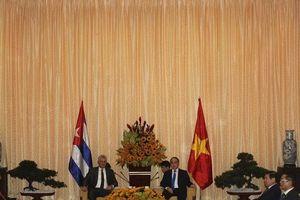 Bí thư Nguyễn Thiện Nhân đón Chủ tịch hội đồng Nhà nước Cuba thăm TP.HCM