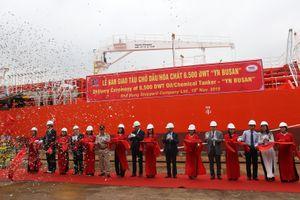 Đóng tàu Phà Rừng bàn giao tàu chở dầu 6.500 tấn cho Hàn Quốc
