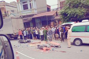 Hưng Yên: Va chạm giữa xe máy và xe tải khiến 4 người thương vong