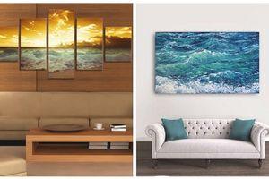 Chọn tranh treo tường phù hợp với màu sơn