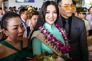 Hoa hậu Trái đất Phương Khánh quá xinh đẹp trong ngày trở về