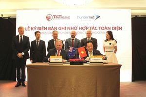 T&T Group ký kết biên bản ghi nhớ hợp tác toàn diện với Hiệp hội doanh nghiệp Hunternet