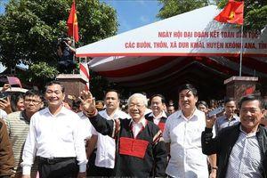 Tổng Bí thư, Chủ tịch nước Nguyễn Phú Trọng dự Ngày hội Đại đoàn kết toàn dân tộc tại Đắk Lắk