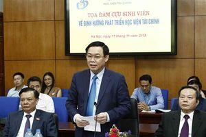 Phó Thủ tướng đề nghị Học viện Tài chính nghiên cứu thành lập mạng lưới sáng kiến tài chính