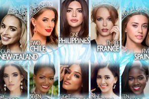 Vừa khai chiến, Tiểu Vy đã công phá bảng xếp hạng của Missosology, chễm chệ vị trí thứ 9 ở Miss World