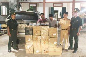 Phát hiện 2 thanh niên vận chuyển 264 kg pháo lậu vào nội địa để tiêu thụ
