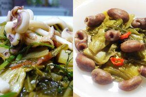 8 món ngon từ dưa cải muối ăn tốn cơm ngày đông