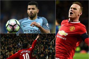 10 chân sút hàng đầu derby thành Manchester: Aguero theo sát Rooney