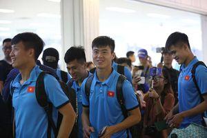 Tuyển Việt Nam đã trở về nước để chuẩn bị cho cuộc tiếp đón Malaysia