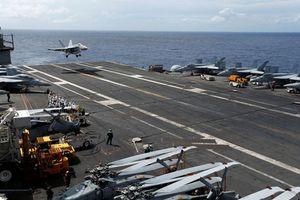 Máy bay chiến đấu cất cánh từ tàu sân bay Mỹ rơi xuống biển Philippines