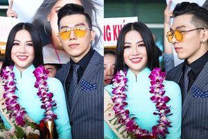 Đón Phương Khánh về nước, nam vương Ngọc Tình bị gọi nhầm là vệ sĩ vì 'quá đẹp trai'