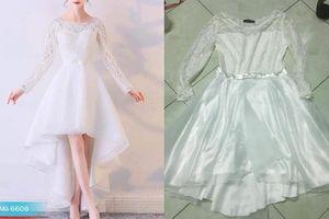 Nhan nhản thảm họa mua hàng online mà cô dâu này vẫn dám đặt váy cưới qua mạng và nhận ngay kết quá 'cay'