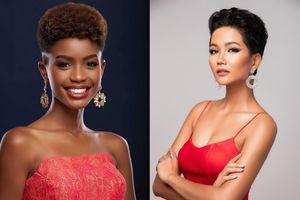 Phản ứng bất ngờ của H'Hen Niê trước đối thủ có mái tóc ngắn còn độc lạ hơn nhiều tại Miss Universe