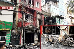 Hà Nội: Bất cẩn khi thay bình gas, ngôi nhà 4 tầng bị thiêu rụi