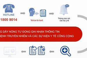 Thông báo dịch bệnh truyền nhiễm qua nhận diện giọng nói