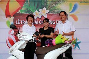 Thêm một khách hàng trúng thưởng Xe máy Honda Vision của Bảo hiểm Bưu điện