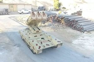 SAA triển khai hệ thống tên lửa Gulan 1000 đến Al-Sweida diệt IS
