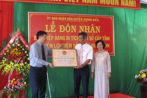 Huyện Phong Điền đón Bằng xếp hạng di tích địa điểm lưu niệm Đồng chí Hoàng Anh