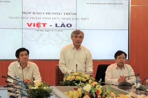 Ngày hội 'Thắm tình hữu nghị đặc biệt Việt - Lào' ở Điện Biên