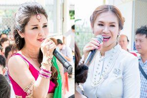 Hoa hậu Quý bà Thái Lan, Malaysia đội nắng hát phục vụ bà con Trà Vinh