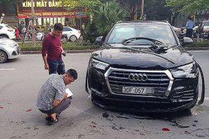 Xác định tài xế lùi 'xế hộp' Audi Q5 gây tai nạn liên hoàn ở Hà Nội