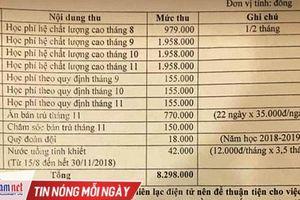 'Trường THCS Thanh Xuân: Không phải học phí chất lượng cao mà là phí bổ trợ'