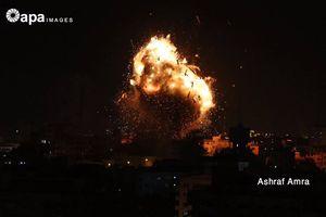 Trúng bom Israel, Đài truyền hình Gaza nổ tung thành cầu lửa khổng lồ