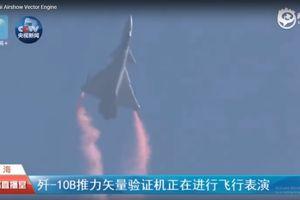 Tiêm kích Trung Quốc biểu diễn kỹ năng siêu cơ động