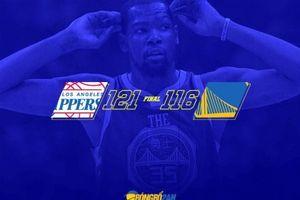 Thiếu vắng Curry, Durant gồng mình 'gánh' Warriors nhưng không thể vượt qua ngọn núi mang tên Clippers