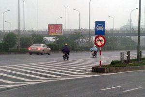 Xử lý nghiêm xe máy đi vào làn cao tốc đại lộ Thăng Long