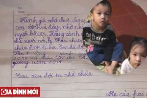 Hé lộ bức thư của người mẹ trẻ bỏ rơi 2 con tại chùa