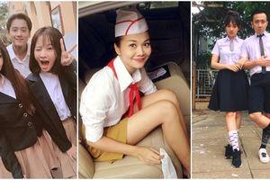 Há hốc mồm trước những sao Việt 'hồi xuân' ngoại mục với đồng phục học sinh
