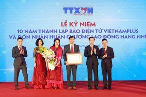Báo điện tử VietNamplus kỷ niệm 10 năm thành lập và đón nhận Huân chương lao động hạng Nhì