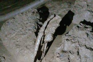 Vụ 2 phu vàng mắc kẹt: Tìm thấy chiếc ô tô nằm sâu trong bùn đất
