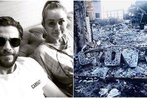 Liam Hemsworth chia sẻ hình ảnh căn nhà bị cháy rụi của Miley Cyrus