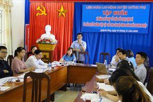 Thái Bình: LĐLĐ huyện Quỳnh Phụ tập huấn giải quyết ngừng việc tập thể cho CĐCS