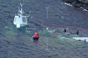 Kết cục thảm hại của tàu chiến Na Uy sau khi bị tàu chở dầu đâm trúng