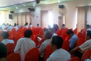 PCT Bình Định bức xúc vì nhiều lãnh đạo huyện bỏ về giữa cuộc họp