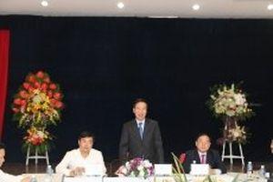 Trưởng ban Tuyên giáo T.Ư Võ Văn Thưởng làm việc với Báo Tiền Phong