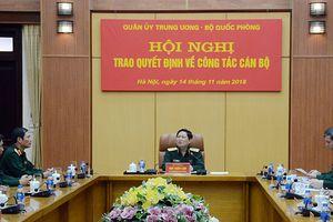 Quân ủy Trung ương - Bộ Quốc phòng tổ chức Hội nghị trao quyết định về công tác cán bộ