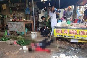 Người phụ nữ bán đậu bị bắn tử vong ngay tại chợ